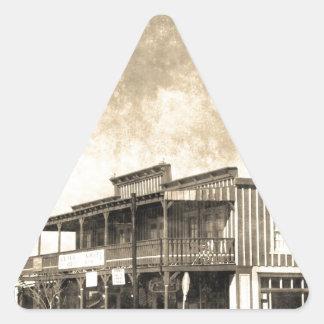 Vintage Old West Building Triangle Sticker