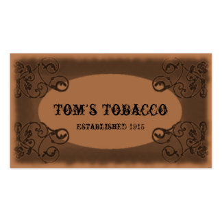Vintage Old West business card template
