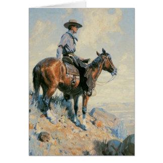Vintage Old West Cowboy Card