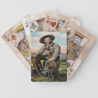 Vintage Old West Cowboy Game Playing Cards