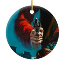 Vintage Old West Gunslinger Cowboy Ceramic Ornament