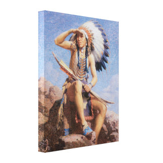 Vintage Old West The Scout 1922 Wrapped Canvas Art Canvas Print