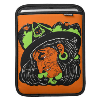 Vintage Old Witch and Bats iPad Sleeve