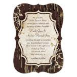 """Vintage Old Wood Vine Swirl Wedding Invite 5"""" X 7"""" Invitation Card"""