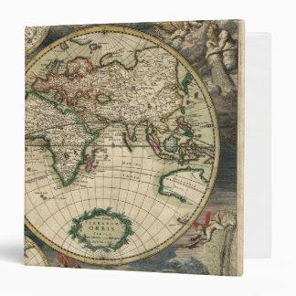 Vintage old world Antique Map Vinyl Binder