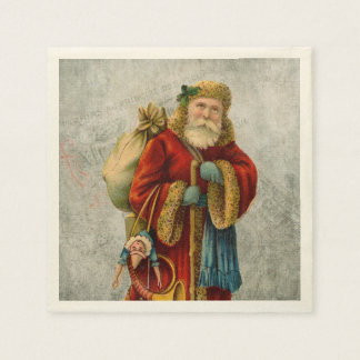 Vintage Old World Christmas Santa Paper Napkin