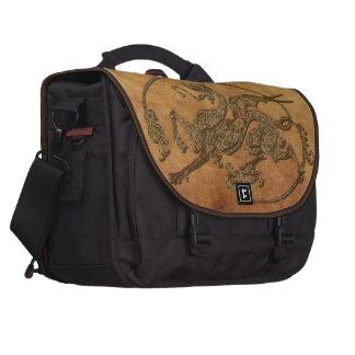 Vintage Old World Dragon on Parchment effect Computer Bag