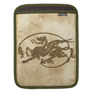 Vintage Old World Dragon on Parchment effect iPad Sleeve