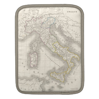 Vintage old world Italy map iPad sleeve
