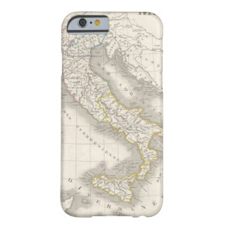 Vintage old world Italy map Italian foodie Barely There iPhone 6 Case