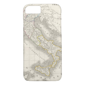 Vintage old world Italy map Italian foodie iPhone 7 Case
