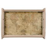 Vintage Old World Map 10 History Design Serving Tray
