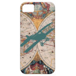 Vintage Old World Map Biplane Aviator Pilot Case iPhone 5 Cases