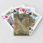 Vintage Old World Map Card Set Bicycle Playing Cards