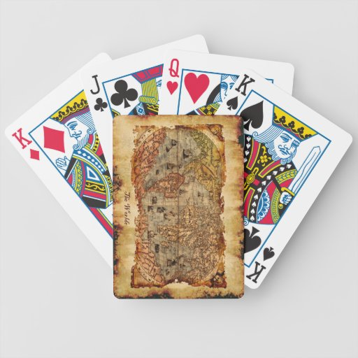 Vintage Old World Map Card Set Playing Cards
