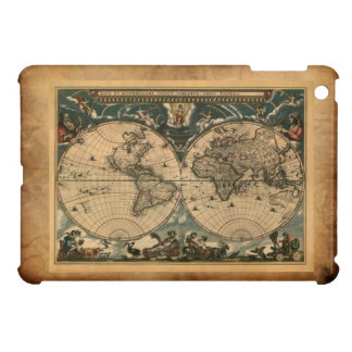 Vintage Old World Map Cartography Case iPad Mini Case