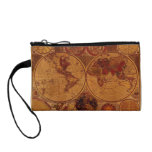 Vintage Old World Map Designer Coin Wallet<br><div class='desc'>The ultimate collection of Vintage World Maps including rustic and grunge style versions of our beautiful planet Earth according to Explorers and Discoverers who made history with their journeys around the globe. Classy and stylish!</div>