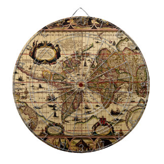 Vintage Old World Map Designer Dart Board