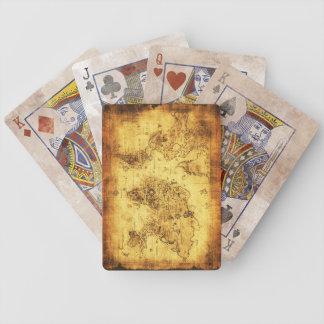 Vintage Old World Map Designer Set Bicycle Playing Cards