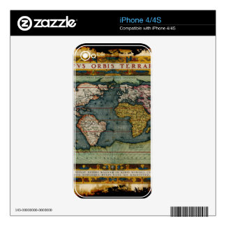 Vintage Old World Map Historic Electronics Skins Skins For The iPhone 4