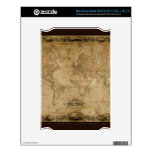 Vintage Old World Map Historic Electronics Skins Decals For The NOOK