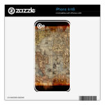 Vintage Old World Map Historic Electronics Skins iPhone 4 Decal
