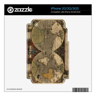 Vintage Old World Map Historic Electronics Skins iPhone 3GS Skin