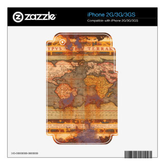 Vintage Old World Map Historic Electronics Skins Skins For The iPhone 2G