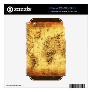 Vintage Old World Map Historic Electronics Skins iPhone 2G Decals