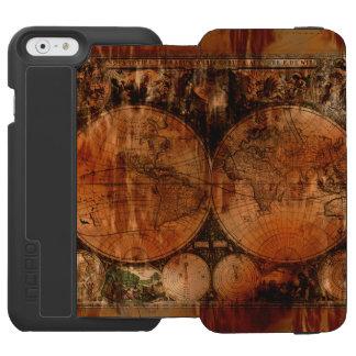Vintage Old World Map History-buff Designer iPhone 6/6s Wallet Case