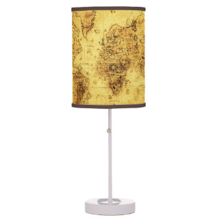 Vintage Old World Map History-buff Table Lamp
