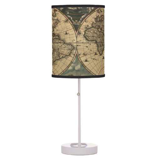 Vintage Old World Map History-buff Lamps