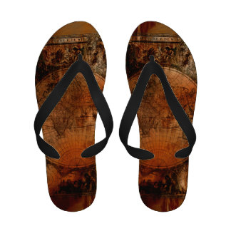 Vintage Old World Map History-buff Sandals