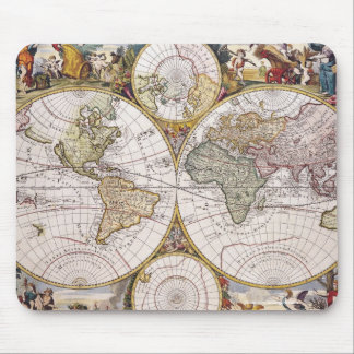 Vintage Old World Map History-lover Design Mouse Pad