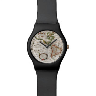 Vintage Old World Map History-lover designer Watch