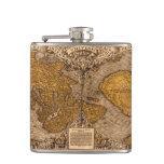 Vintage Old World Map History-lover Hip Flask
