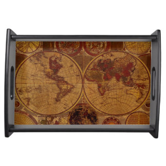 Vintage Old World Map History-lover Serving Tray