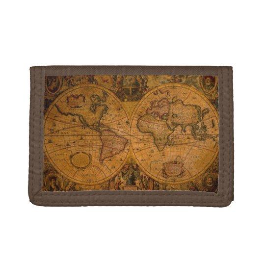 Vintage Old World Map History-lover Tri-fold Wallets