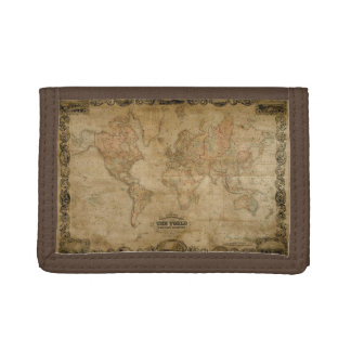 Vintage Old World Map History-lover Trifold Wallet