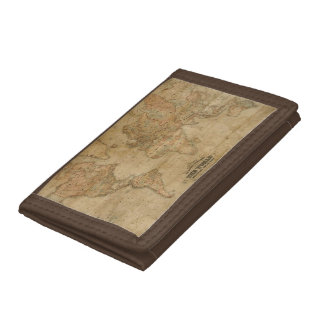 Vintage Old World Map History-lover Trifold Wallets