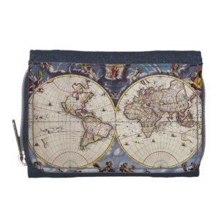 Vintage Old World Map History-lover Wallet