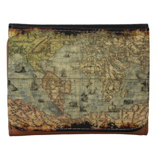 Vintage Old World Map History-lover Wallets