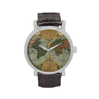 Vintage Old World Map History-lover Watches