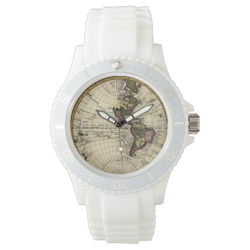 Vintage Old World Map History-lover Wrist Watch