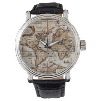 Vintage Old World Map History-lover Wristwatch