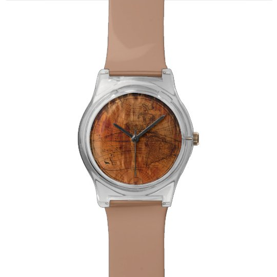 Vintage Old World Map History-lover's design Watch
