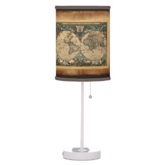 Vintage Old World Map History-lover's Gift Lamps