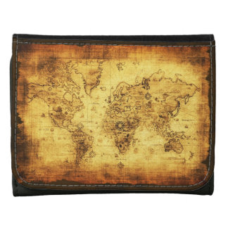 Vintage Old World Map History-lover's Gift Wallets