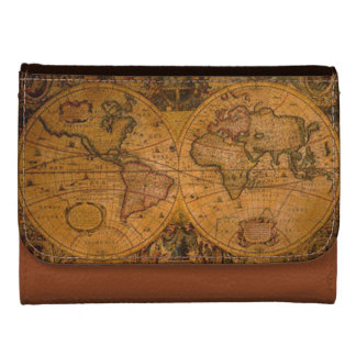 Vintage Old World Map History-lover's Gift Women's Wallet