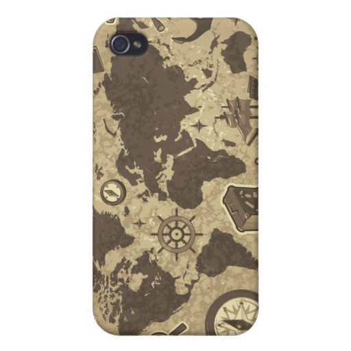 Vintage Old World Map iPhone 4 Case